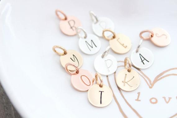 Initial charm, letter charm, alphabet charm, initial pendant, Silver charm, initial charms silver, Personalized initial, Monogram charm MG