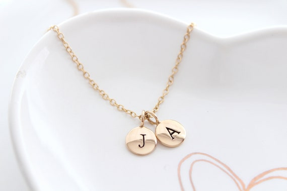 Gold Initial Necklace Gold Custom Initial Jewelry monogram jewelry Gold letter necklace Gold initial charm Gold initial Custom letter charm