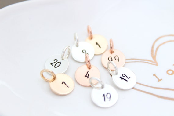 Number Necklace , 2 digits number charm , Team Number , Personalized Jewelry , Necklace with Number , Lucky Number Date Necklace