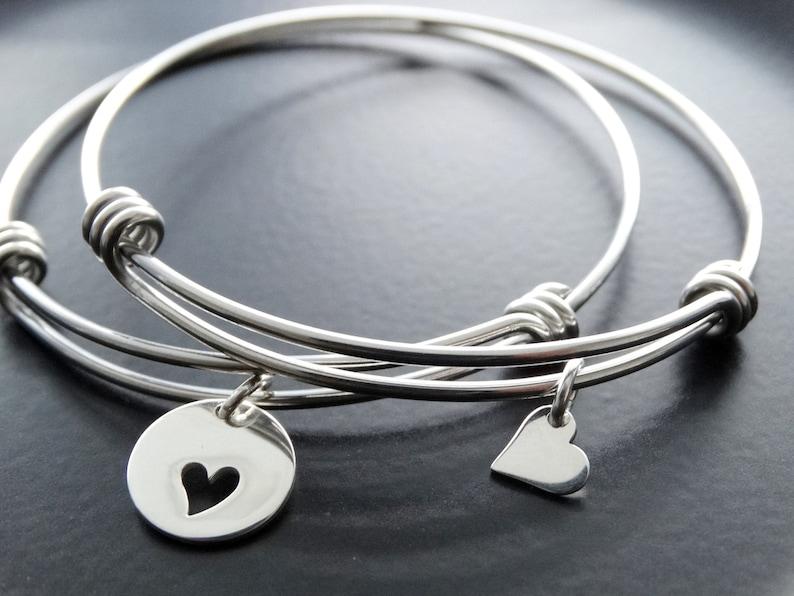 Mother daughter bracelet heart Mother Daughter Bracelet set image 0