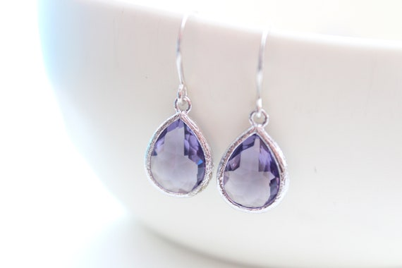 Purple Earrings Wedding Jewelry Bride earrings Bridesmaid Earrings Bridesmaid Gift February Birthstone Amethyst Earrings