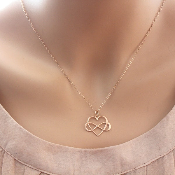 Infinity Necklace Mothers Necklace Mother daughter Necklace image 2