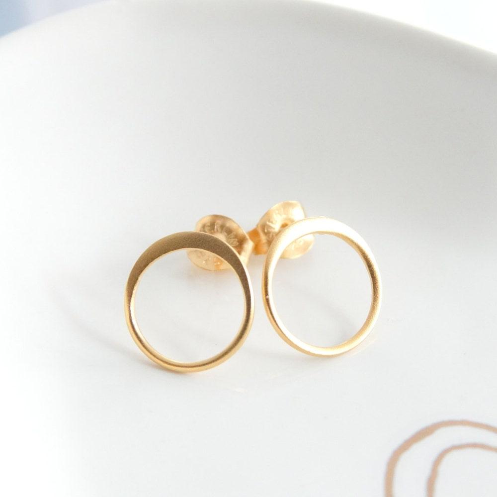Round earrings Circle stud earrings Hoop earrings open image 0