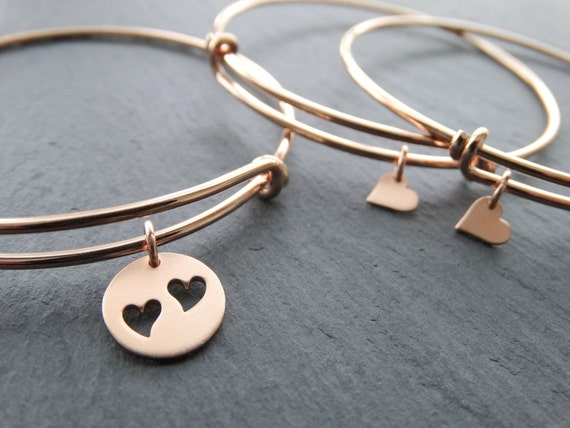 Mother Daughter bracelets mother daughter bracelets heart set of 3 bangles mother daughter gift Mothers Day Gift from Daughter