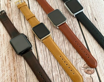 Apple watch band, Apple watch leather, Apple watch band 38mm, Apple watch band 42mm, Apple Watch Strap, Wearable technology,