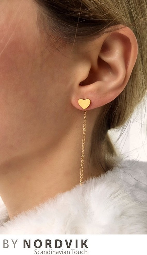 Thema Herz Ohrringe Einfache Ohrringe Moderne Ohrringe Etsy