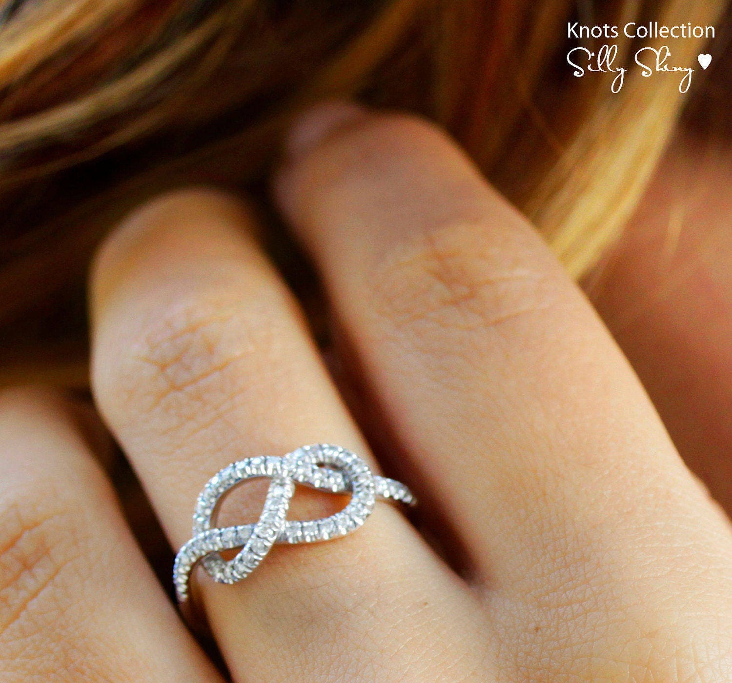 Infinity Engagement Ring, Unique Engagement Ring, The Original, 0.35 CT Diamond Ring, Unique Wedding Band, Love Knot Diamond Ring, Bridal