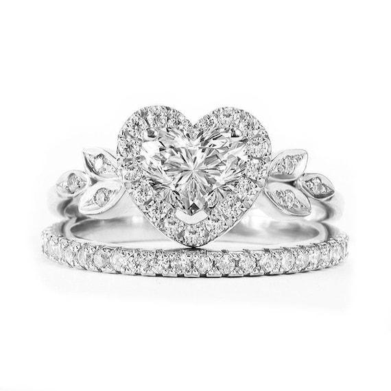 Heart Shaped Diamond Unique Engagement Ring Heart Diamond | Etsy