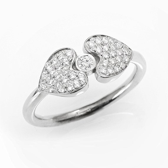 Herz Diamant Ring Einzigartige Verlobungsring Herz Ring Etsy