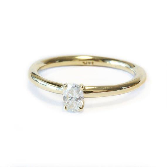 Ovale Diamant Verlobungsring Solitar Diamant Ring Oval Etsy