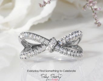 Hera Diamond Ring, Infinity Knot Ring, 0.4 CT Diamond Ring, Love Knot Ring, Gold Rings for Women, Infinity Ring, Unique Ring