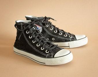 Converse Hi Tops Trainers Sneakers Black Vintage Unisex UK 3.5 EU 36 US  5.5 3.5 f7ca7624f