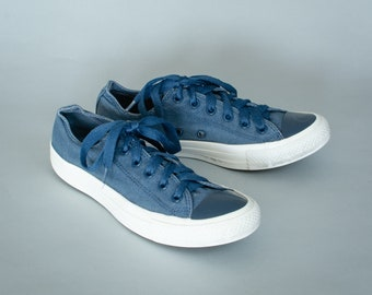 9f1722ad5796 Converse Low Top Trainers Sneakers Navy Blue Vintage Unisex UK 7.5 EU 41 US  9.5