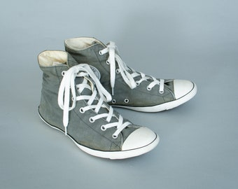 c333ff224cad Converse Hi Tops Trainers Sneakers Grey Vintage Unisex UK 5.5 EU 38 US 7.5
