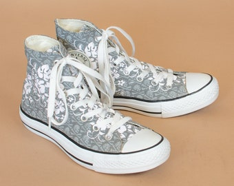 new style 746ec 16707 Converse Hi Tops Floral Trainers Sneakers Vintage Unisex UK 5.5 EU 38 US  5.5 7.5