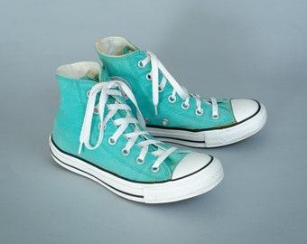 4447afaea3e9 Converse Hi Tops Trainers Sneakers Turquoise Vintage Unisex UK 4 EU 36.5 US  6