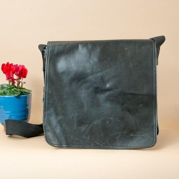 90's Y2K Vintage Marc O'Polo Black Faux Leather Sh
