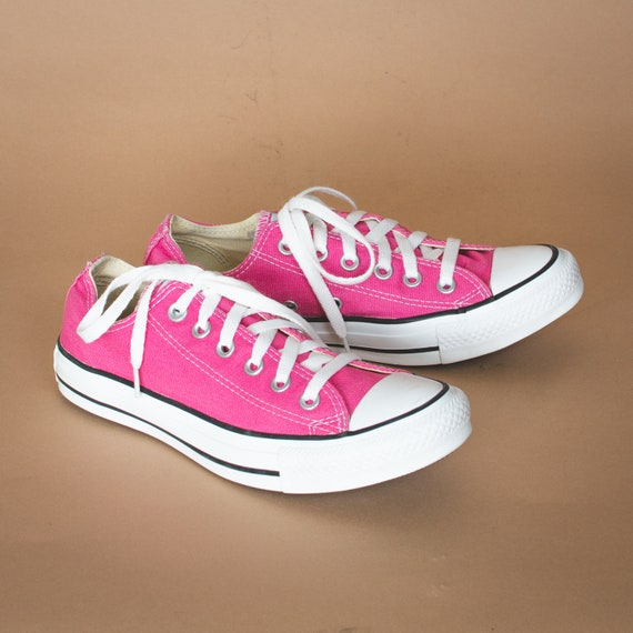 Vintage Converse All Star Sneakers Lo Pink Trainers Unisex UK 5.5 EUR 38 US 7.5