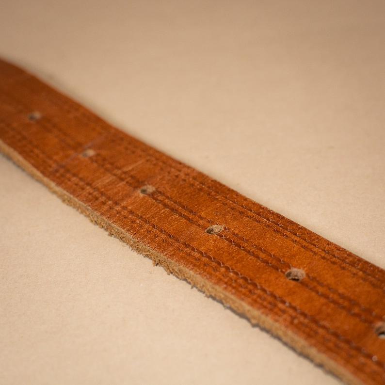 Unisex Brown Leather Jeans Belt Stitched Vintage Men/'s XLarge Women/'s XXLarge