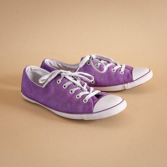 Converse Low Top Trainers Sneakers Purple Vintage Women s  704da7de8