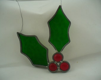 leaded glass holly