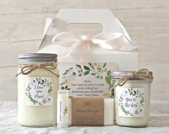 Mom Gift Box Mothers Day Birthday Spa Personalized Gifts For Women From Son I Love You