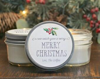 christmas favor candles christmas gift bulk christmas gift merry bright christmas gift corporate party favor