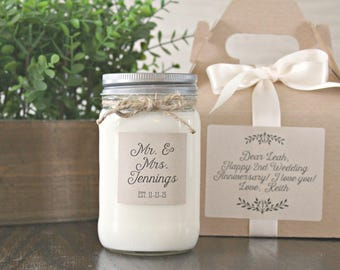 Soy Candle Gift Box Personalized Anniversary Gift for Parents Candle Gift for Anniversary Spouse Happy Anniversary Friends Wife