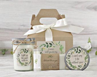 Will you be my Bridesmaid Box  / Bridesmaid Proposal / Will You Be my Maid of Honor / Bridesmaid Box Gift / Greenery Wedding Gift Box