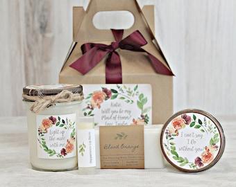 Fall will you be my Bridesmaid Box  / Bridesmaid Proposal / Will You Be my Maid of Honor / Bridesmaid Box Gift / Fall Wedding Gift Box