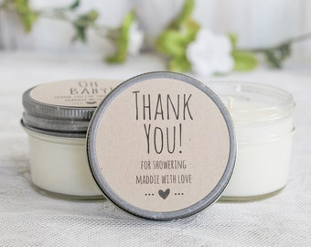 Thank you Bridal Shower Favors / Bridal Shower Candles / Bridal Shower Sugar Scrubs / Personalized Favors / Bridal Shower Idea