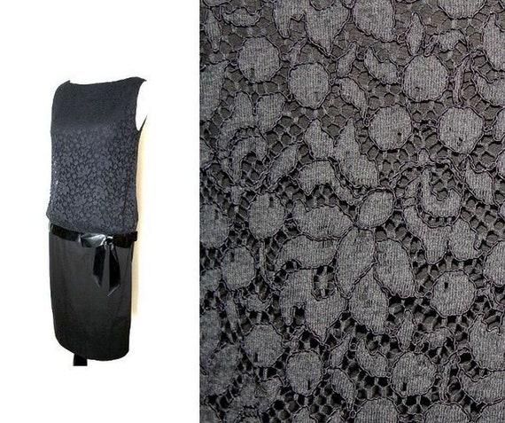 Vintage MR. MORT Drop Waist Dress SMALL Sleeveless