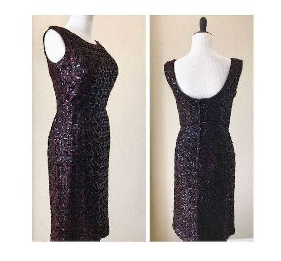 60's Vintage Sequin Wiggle Dress