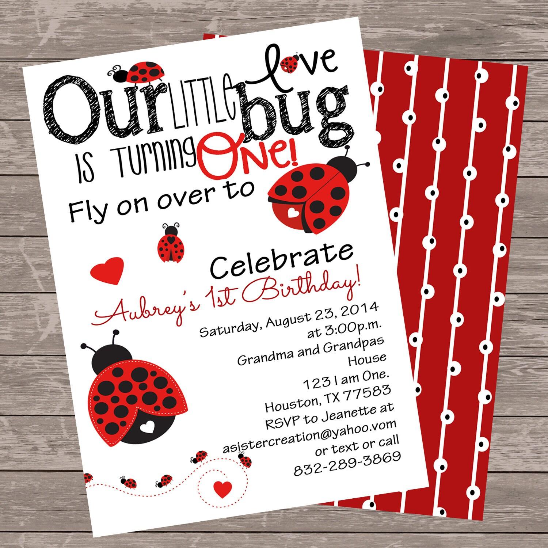Ladybug invitation spring summer birthday printable etsy zoom filmwisefo
