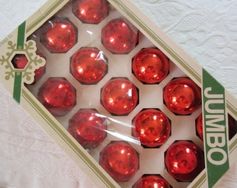 red glass ornaments etsy