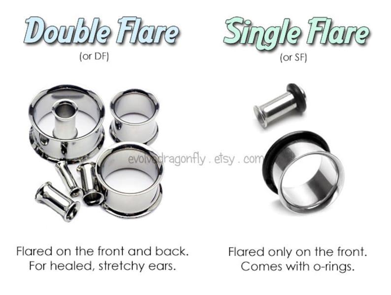 78 SHOP CLOSING 22mm Plugs Double Flare Ocean Teal Stardust Sparkle Glitter Plugs