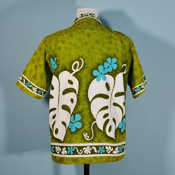 Vintage 60s/70s Hawaiian Shirt Floral Pattern, Co… - image 7
