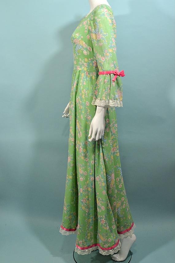 Vintage Cottagecore Prairie Fairycore Maxi Dress,… - image 8