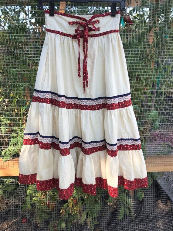 Vintage Jessica's Gunnies Gunne Sax Prairie Skirt,