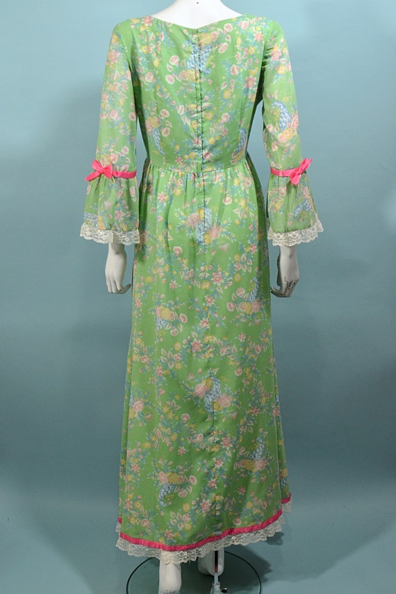 Vintage Cottagecore Prairie Fairycore Maxi Dress,… - image 9