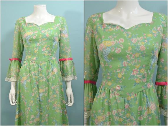 Vintage Cottagecore Prairie Fairycore Maxi Dress,… - image 2