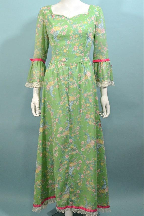 Vintage Cottagecore Prairie Fairycore Maxi Dress,… - image 5