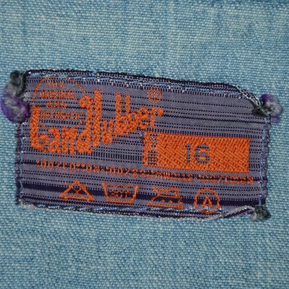 RARE Vintage 60s/70s Landlubber Embroidered Denim… - image 10
