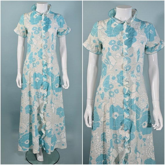 Vintage 50s/60s Floral Dressing Gown House Coat Lo