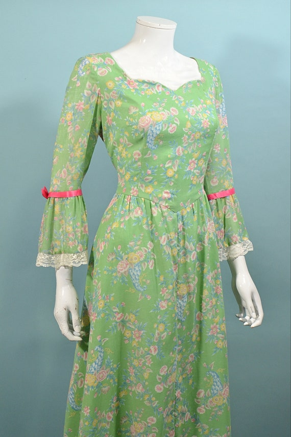 Vintage Cottagecore Prairie Fairycore Maxi Dress,… - image 7