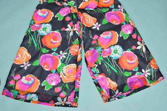 Vintage 70s Hawaiian Jumpsuit Palazzo Pants, Maxi… - image 7