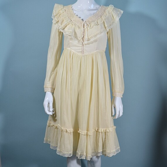 Vintage Gunne Sax Prairie Dress, Cottagecore Corse