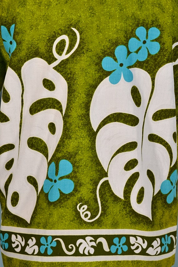 Vintage 60s/70s Hawaiian Shirt Floral Pattern, Co… - image 9