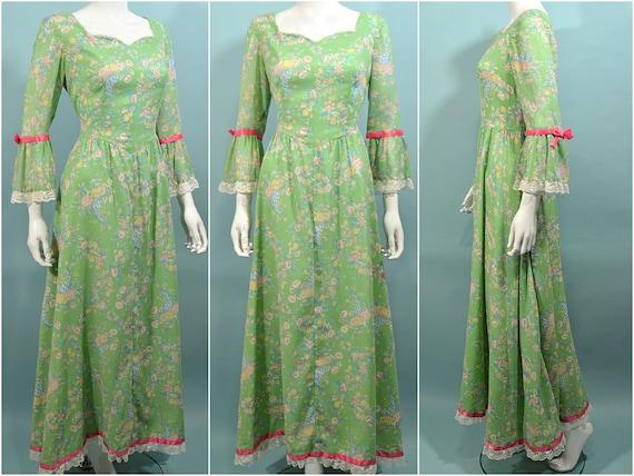 Vintage Cottagecore Prairie Fairycore Maxi Dress,… - image 1