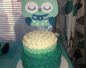 Owl Cake Topper Centerpiece